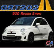 2010-2015 Fiat 500 Rocker Side Vinyl Stripe Kit (M-GRT202)