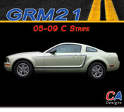 2005-2009 Ford Mustang C Stripe Side Vinyl Stripe Kit (M-GRM21)