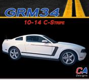 2010-2014 Ford Mustang C-Stripe Vinyl Stripe Kit (M-GRM34)