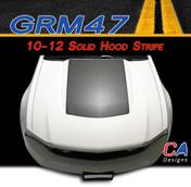 2010-2012 Ford Mustang Solid Hood Vinyl Stripe Kit (M-GRM47)