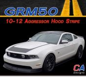 2010-2012 Ford Mustang Aggressor Hood Vinyl Stripe Kit (M-GRM50)