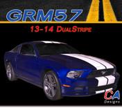2013-2014 Ford Mustang Dual Vinyl Stripe Kit (M-GRM57)