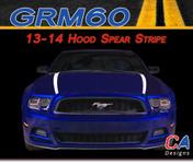2013-2014 Ford Mustang Hood Spear Vinyl Stripe Kit (M-GRM60)