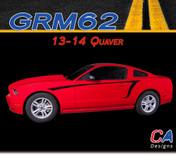 2013-2014 Ford Mustang Quaver Side Vinyl Stripe Kit (M-GRM62)