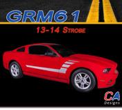 2013-2014 Ford Mustang Strobe Side Vinyl Stripe Kit (M-GRM61)