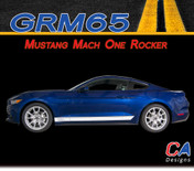 2015-2016 Ford Mustang Mach One Rocker Side Vinyl Stripe Kit (M-GRM65)