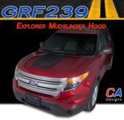 2011-2015 Ford Explorer Mudslinger Hood Vinyl Stripe Kit (M-GRF239)