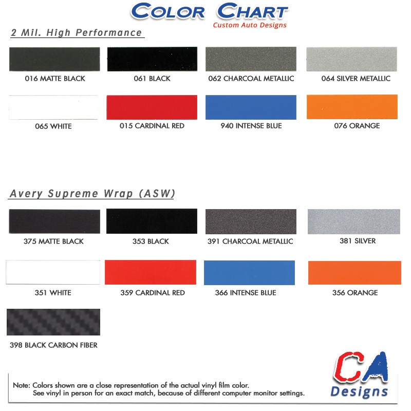 2015 Ford Explorer Color Chart >> 2011 2015 Ford Explorer Reactor Center Hood Vinyl Stripe Kit