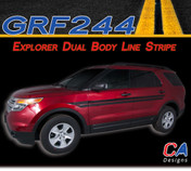 2011-2015 Ford Explorer Dual Body Line Stripe Vinyl Stripe Kit (M-GRF244)