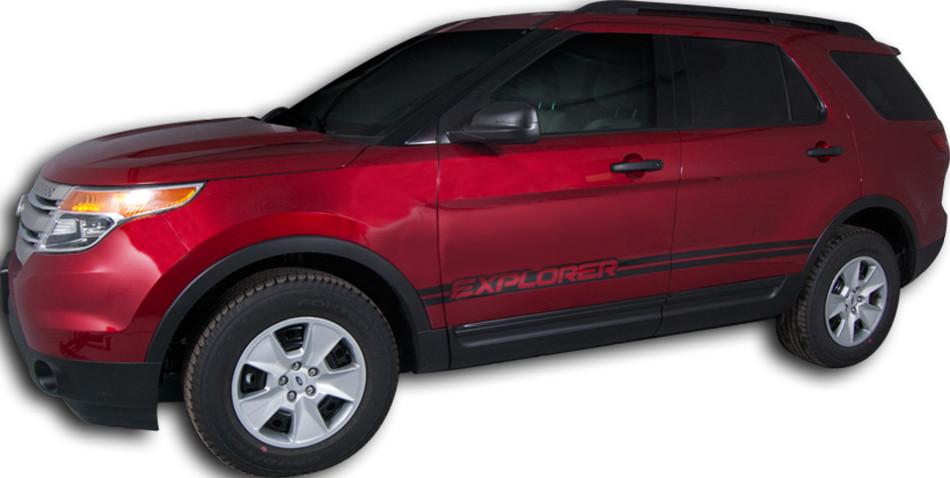 2011 2015 Ford Explorer Dual Rocker Stripe Vinyl Stripe