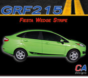 2014-2015 Ford Fiesta Wedge Vinyl Stripe Kit (M-GRF215)