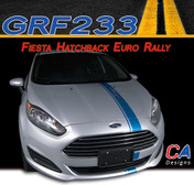 2014-2015 Ford Fiesta Hatchback Euro Rally Vinyl Stripe Kit (M-GRF233)