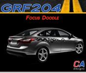 2012-2013 Ford Focus Doodle Vinyl Stripe Kit (M-GRF204)