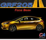 2012-2013 Ford Focus Brush Vinyl Stripe Kit (M-GRF205)