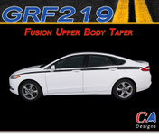2013-2015 Ford Fusion Upper Body Taper Vinyl Stripe Kit (M-GRF219)
