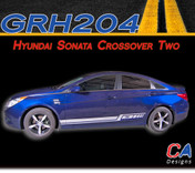 2009-2014 Hyundai Sonata Crossover Two Rocker Vinyl Stripe Kit (M-GRH204)