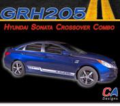 2009-2014 Hyundai Sonata Crossover Combo Rocker Vinyl Stripe Kit (M-GRH205)