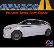 2011-2015 Hyundai Veloster Upper Body Swoop Vinyl Stripe Kit (M-GRH209)