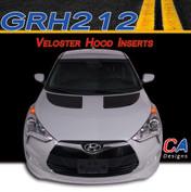 2011-2015 Hyundai Veloster Hood Inserts Vinyl Stripe Kit (M-GRH212)