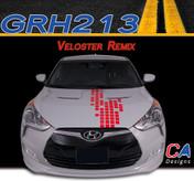 2011-2015 Hyundai Veloster Remix Vinyl Stripe Kit (M-GRH213)