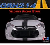 2011-2015 Hyundai Veloster Racing Vinyl Stripe Kit (M-GRH214)