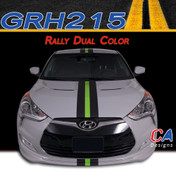 2011-2015 Hyundai Veloster Dual Color Rally Racing Vinyl Stripe Kit (M-GRH215)