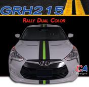 2011-2015 Hyundai Veloster Dual Color Rally Racing Vinyl Stripe Kit (M-GRH215)