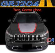 2015 Jeep Cherokee Tuco Center Hood Vinyl Stripe Package (M-GRJ204)
