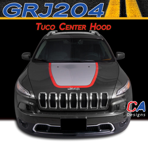 2015 Jeep Cherokee Tuco Center Hood Vinyl Stripe Package