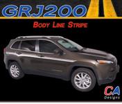 2015 Jeep Cherokee Body Line Vinyl Stripe Kit (M-GRJ200)