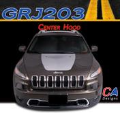 2015 Jeep Cherokee Center Hood Vinyl Stripe Kit (M-GRJ203)