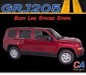 2007-2015 Jeep Patriot Body Line Strobe Vinyl Stripe Kit (M-GRJ205)