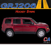2007-2015 Jeep Patriot Hockey Vinyl Stripe Kit (M-GRJ206)