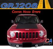 2007-2015 Jeep Patriot Center Hood Vinyl Stripe Kit (M-GRJ208)