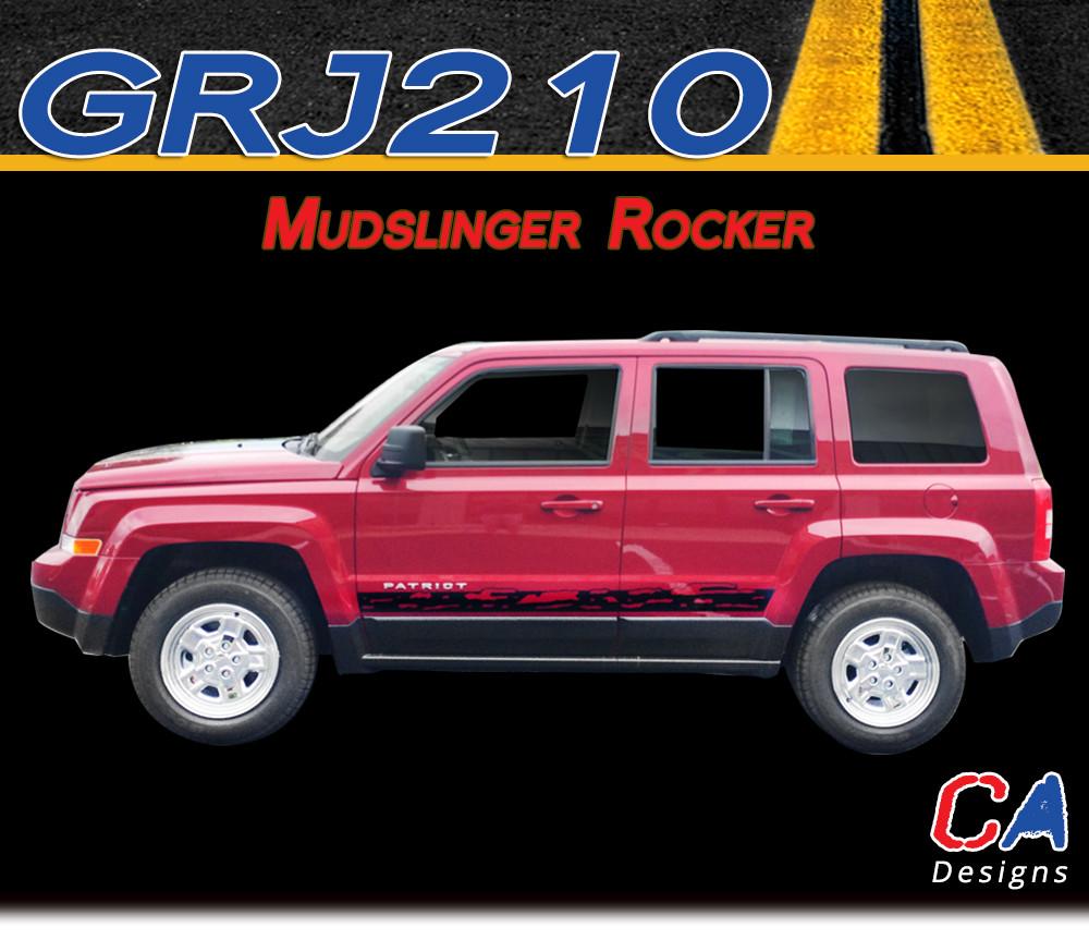 2007-2015 Jeep Patriot Mudslinger Rocker Vinyl Stripe Kit