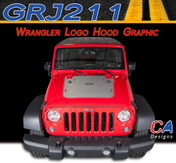 2007-2015 Jeep Wrangler Logo Hood Vinyl Graphic Stripe Package (M-GRJ211)