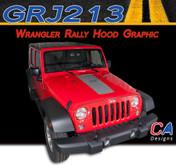 2007-2015 Jeep Wrangler Rally Hood Vinyl Graphic Stripe Package (M-GRJ213)