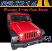 2007-2015 Jeep Wrangler Hood Spears Vinyl Graphic Stripe Package (M-GRJ214)