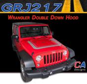 2007-2015 Jeep Wrangler Double Down Hood Vinyl Graphic Stripe Package (M-GRJ217)