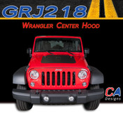 2007-2015 Jeep Wrangler Center Hood Vinyl Graphic Stripe Package (M-GRJ218)