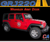 2007-2015 Jeep Wrangler Army Door Vinyl Graphic Stripe Package (M-GRJ220)