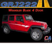 2007-2015 Jeep Wrangler Blade Four Door Vinyl Graphic Stripe Package (M-GRJ222)