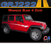 2007-2018 Jeep Wrangler Blade Four Door Vinyl Graphic Stripe Package (M-GRJ222)