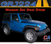 2007-2015 Jeep Wrangler Side Spear Strobe Vinyl Graphic Stripe Package (M-GRJ224)