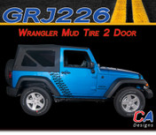 2007-2015 Jeep Wrangler Mud Tire Two Door Vinyl Graphic Stripe Package (M-GRJ226)