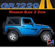 2007-2015 Jeep Wrangler Blade Two Door Vinyl Graphic Stripe Package (M-GRJ229)