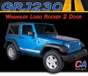 2007-2015 Jeep Wrangler Logo Rocker Two Door Vinyl Graphic Stripe Package (M-GRJ230)
