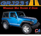 2007-2015 Jeep Wrangler Mud Logo Rocker Two Door Vinyl Graphic Stripe Package (M-GRJ231)