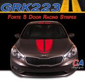 2014-2015 Kia Forte 5 Door Boomerang Racing Vinyl Racing Stripe Kit (GRK223)
