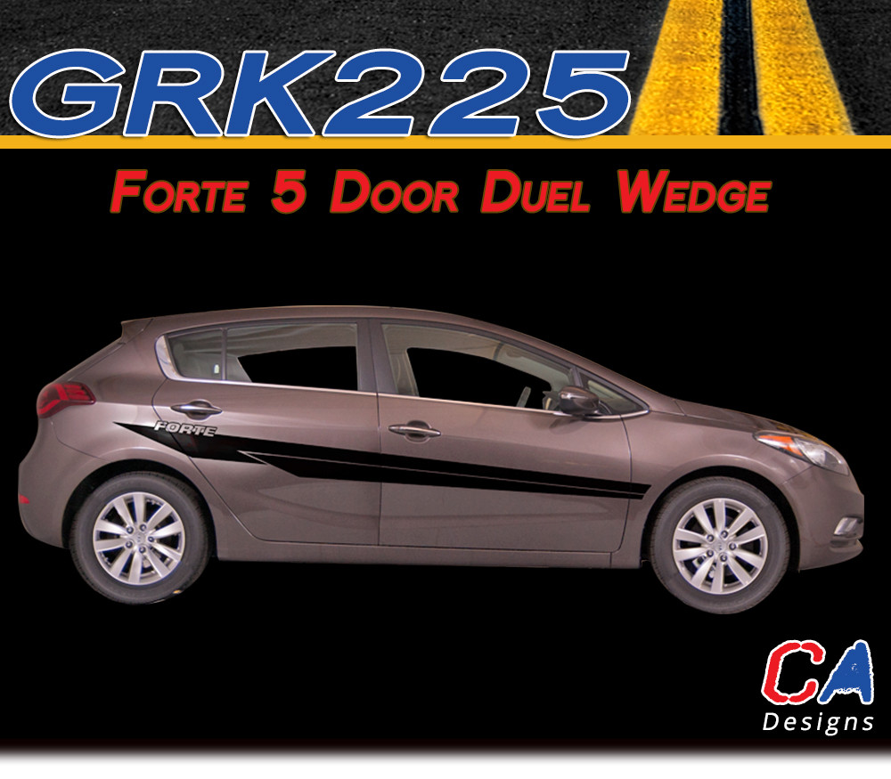 2014 2015 Kia Forte 5 Door Duel Wedge Vinyl Racing Stripe